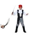 Piraten kostuum maat s met zwaard voor kids