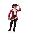 Piraten kostuum rood zwart voor jongens