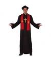Priester kostuum zwart rood voor volwassenen