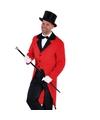 Rode slipjas met zwarte hoge hoed
