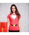 Rood kerstman t shirt voor dames