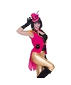 Roze accessoires slipjas inclusief roze hoedje maat s m