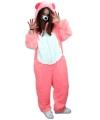 Roze beren overall voor volwassenen
