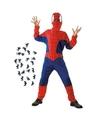 Spinnenheld kostuum maat m met spinnetjes voor kinderen