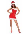 Strapless sexy kerst jurkje