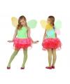 Vlinder kostuum voor kids groen/rood