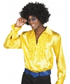 Gele disco overhemden met rouches
