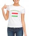 T-shirt met vlag Hongarije print voor dames