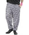Witte 90s broek met zebra print