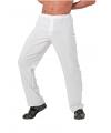 Verkleedkleding witte herenbroek