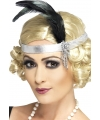 Roaring Twenties zilveren hoofdband