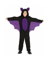 Zwart met paars vleermuis kostuum voor jongens